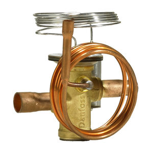 expansion thermostatic valve / brass / stainless steel / for air conditioning