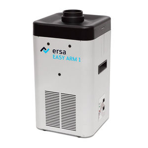 floor-standing fume extractor / soldering / activated carbon filter / with extraction arm