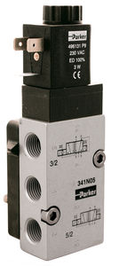solenoid-operated pneumatic directional control valve / 5/2-way / for high flow rates