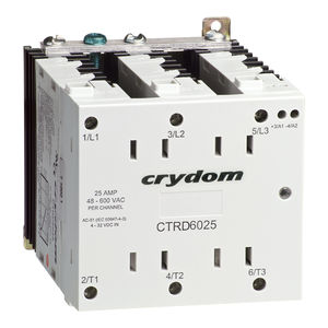 power contactor / solid-state / three-phase / DIN rail