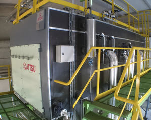 superheated water boiler / biomass / fire tube / horizontal