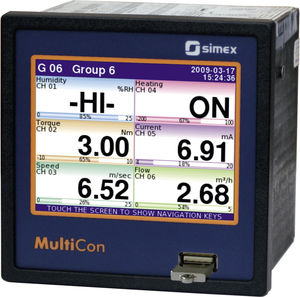 temperature controller with LCD display / with touchscreen / graphic / PID