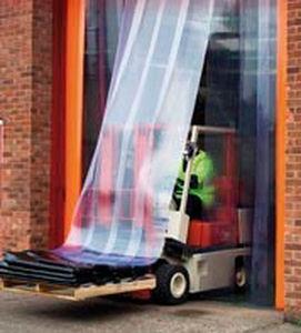 flexible strip doors / PVC / exterior / industrial