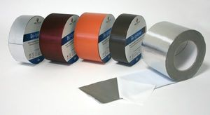 rubber adhesive tape / aluminum / butyl rubber / for automotive applications