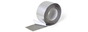 aluminum adhesive tape / butyl rubber / for pipe wrapping / film