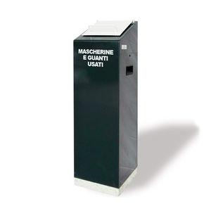 zinc-coated steel waste bin