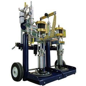 piston mixing and metering unit