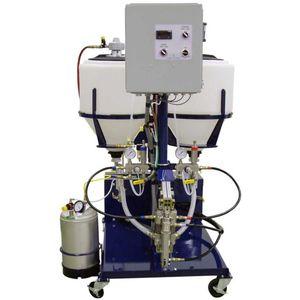 volumetric dosing unit / piston / two-component pultrusion resin / hydraulic motor