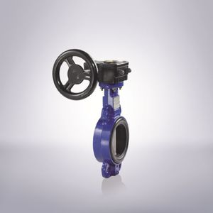 butterfly valve / lever / with handwheel / manual