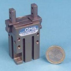 pneumatic micro gripper / parallel / 2-jaw / for the pharmaceutical industry