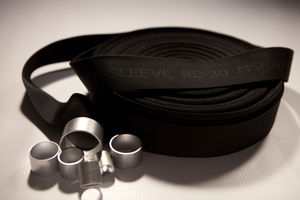 protection sleeve / flat / for hoses / for hydraulic hoses