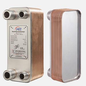 brazed plate heat exchanger / liquid/liquid / copper / nickel-plated brass