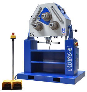 motorized bending machine / for tubes / profile / 3 drive rollers
