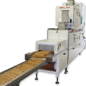 radio frequency dryer / in-line / for the food industry / with belt conveyor