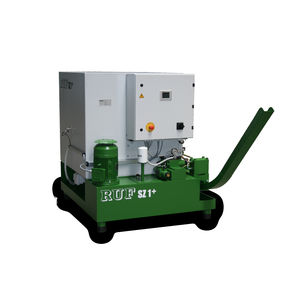 wood chips briquetting presse / for cylindrical briquettes / automatic