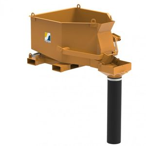 octagonal concrete skip / with discharge hose