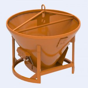 conical concrete skip / bottom-opening