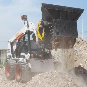crusher bucket / for skid steer loaders / for loaders / for telehandlers