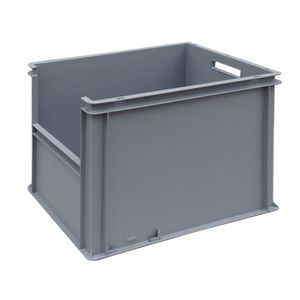 polypropylene crate / storage / stackable / with handles