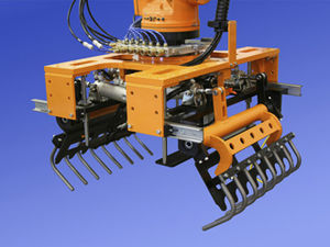 electric gripper / angular / 2-jaw / palletizing