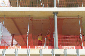 construction fall arrest safety net
