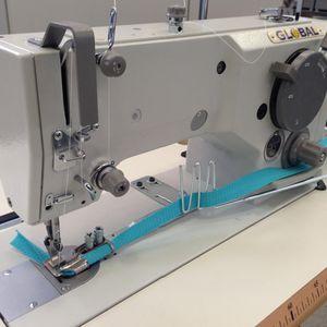 single-needle sewing machine / zigzag stitch / semi-automatic