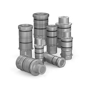 Steel BSP Female Socket 1//4 BSP // -04 // DN6 Manuli ISO A Quick Release Hydraulic Coupling Poppet Valve