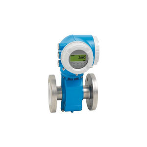 electromagnetic flow meter / for corrosive fluids / compact / digital