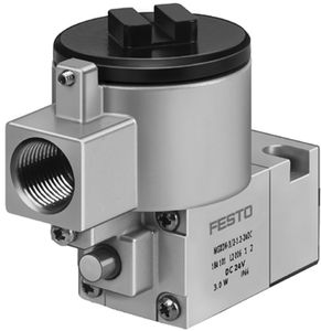 conical plug valve / electrically-operated / pneumatically-operated / for compressed air