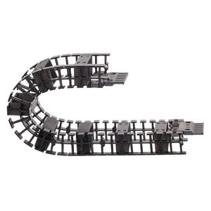 partially enclosed drag chain / plastic / low-noise / low-vibration