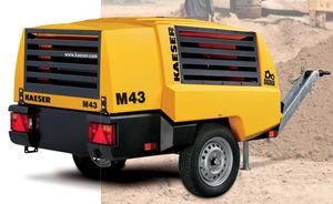 air compressor / mobile / diesel engine / screw