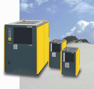 refrigerated compressed air dryer / air-cooled / thermal mass