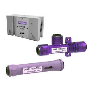 Venturi vacuum ejector / lubricated / single-stage / industrial
