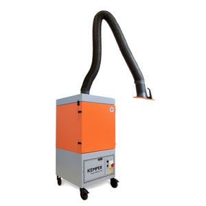 mobile fume extractor / welding / with self-cleaning filter / with extraction arm