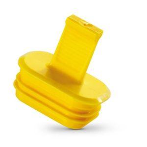 finned plug / male / plastic