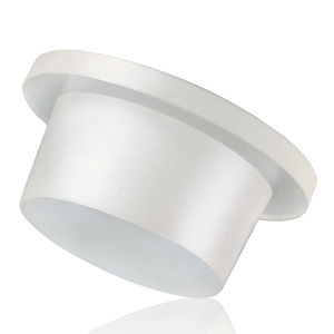 conical plug / non-threaded / low-density polyethylene (LDPE) / flange