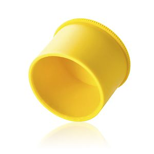 cylindrical plug / thermoplastic / protection / knurled