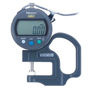 paper thickness gauge / for thin materials / digital display / handheld
