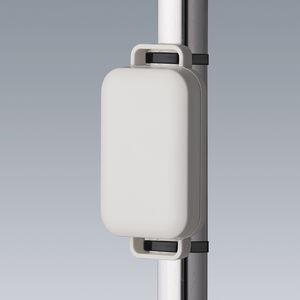 sensor enclosure / wall-mounted / with flange / rectangular