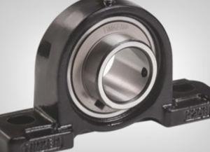 sleeve bearing unit / solid-block / ball bearing / metal