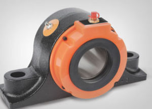 bell-shaped bearing unit / solid-block / tapered roller / metal