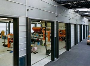 folding door doors / fiberglass / hangar / industrial