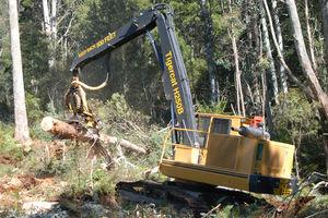 crawler forestry harvester