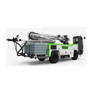 concrete spraying machine / articulated arm / tracked