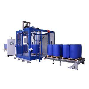 liquid filling machine / drum / pallet drum / jug