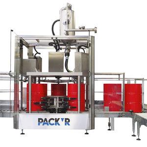 liquid filling machine / drum / automatic / rotary