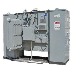 power transformer / immersed / floor-standing / substation