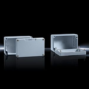 cast aluminum enclosure / small-size / rectangular / lacquered aluminum