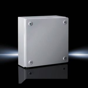 small-size enclosure / rectangular / sheet steel / lacquered steel