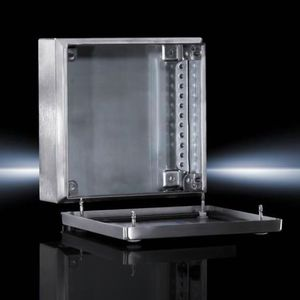 terminal enclosure / small / rectangular / stainless steel